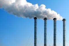 Fumo industriale Fotografia Stock
