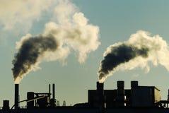 Fumo industriale Fotografia Stock Libera da Diritti