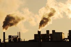 Fumo industriale immagine stock