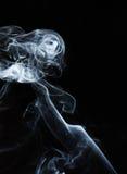 Fumo isolado no preto Imagens de Stock