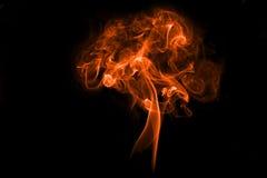 Fumo isolato con luce Immagini Stock Libere da Diritti