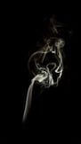 Fumo isolato di incenso Immagine Stock