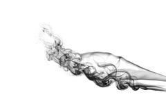 Fumo isolato su bianco Immagine Stock