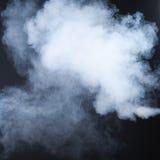 Fumo isolato sul nero Immagini Stock Libere da Diritti