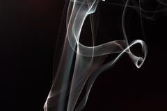 Fumo nel nero Fotografia Stock Libera da Diritti