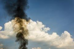 Fumo nero Fotografia Stock Libera da Diritti