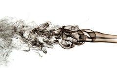Fumo preto abstrato no fundo branco Imagens de Stock Royalty Free