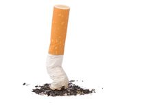 Fumo rinunciato Fotografia Stock