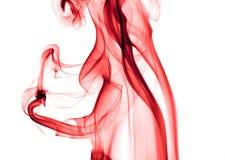 Fumo rosso Fotografie Stock