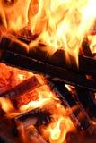 Fumo sete do whit do fogo fotos de stock royalty free