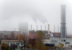 Fumo sob distritos residenciais Imagem de Stock