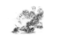 Fumo strutturato, il nero astratto, isolato Fotografie Stock