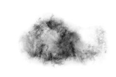 Fumo strutturato, il nero astratto, isolato su fondo bianco Immagini Stock Libere da Diritti