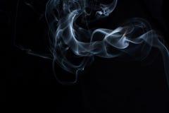 Fumo su priorità bassa nera Fotografie Stock Libere da Diritti