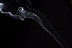 Fumo su priorità bassa nera Immagini Stock