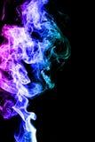 Fumo su priorità bassa nera Fotografie Stock