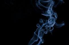 Fumo su priorità bassa nera Fotografia Stock