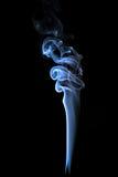Fumo sui precedenti isolati il nero Fotografie Stock Libere da Diritti