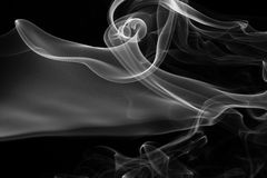 Fumo sul nero Fotografie Stock