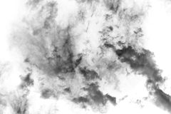 Fumo Textured, preto abstrato, isolado no fundo branco Imagens de Stock