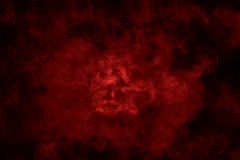 Fumo Textured, vermelho e preto abstratos Fotografia de Stock