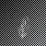 Fumo trasparente su fondo scuro Vettore 10eps Fotografie Stock Libere da Diritti