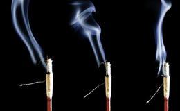 Fumo triplice di incenso immagini stock libere da diritti