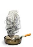 Fumo, um dinheiro no vento Foto de Stock