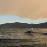 Fumo in valle di Okanagan fotografia stock libera da diritti