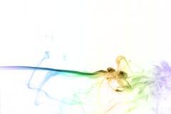 Fumo variopinto su priorità bassa bianca Fotografia Stock Libera da Diritti