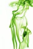 Fumo verde astratto Fotografia Stock Libera da Diritti