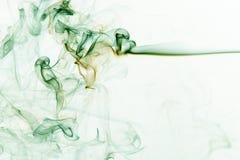 Fumo verde astratto Immagine Stock