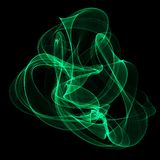 Fumo verde do abstrakt Foto de Stock Royalty Free
