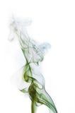 Fumo verde e azul do cigarro Fotografia de Stock