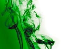 Fumo verde smeraldo Fotografia Stock Libera da Diritti