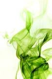 Fumo verde su priorità bassa bianca Immagine Stock