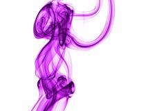 Fumo violeta fotografia de stock