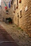 Fumone, średniowieczna wioska w Włochy Obraz Stock