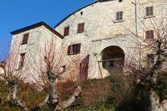 Fumone, średniowieczna wioska w Włochy Obrazy Royalty Free