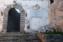 Fumone, średniowieczna wioska w Włochy Fotografia Stock