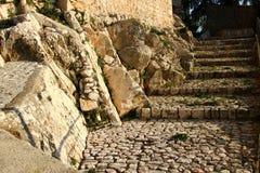 Fumone, średniowieczna wioska w Włochy Obrazy Stock
