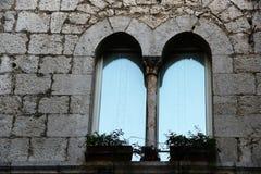 Fumone, średniowieczna wioska w Włochy Zdjęcie Stock