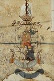 Fumone, średniowieczna wioska w Włochy emblemat Zdjęcia Royalty Free