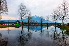 Fumotopara camping ground with Mt. Fuji Stock Photography