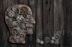 Função do cérebro, psicologia, memória ou concepção mental da atividade fotografia de stock royalty free