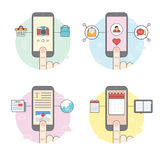 Função do telefone celular Imagem de Stock