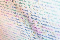 Funções do Javascript, variáveis, objetos Programação de software Criação do procedimento do roteiro fotografia de stock royalty free