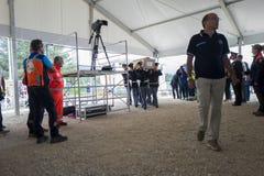 Funérailles pour des victimes de tremblement de terre d'Amatrice et d'Accumili, Italie Images stock