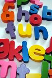 Fun. Children's letters spelling out fun Stock Images