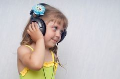 Fun. An image of girl listening to music Stock Image